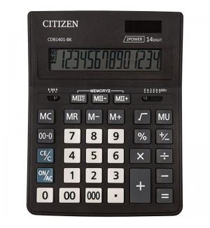 """Калькулятор настольный """"Business Line CDB CDB1401-BK"""", 14 разрядов, черный"""
