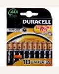 Батарейка LR03 DURACELL BASIC LR03 18BL
