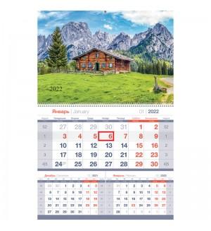 Календарь квартальный 1 бл. на гребне OfficeSpace Mono premium