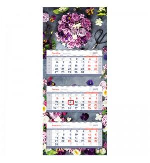 Календарь квартальный 3 бл. на 3 гр. OfficeSpace Mini Premium