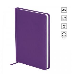 Ежедневник недатир. A5, 136л., кожзам, OfficeSpace