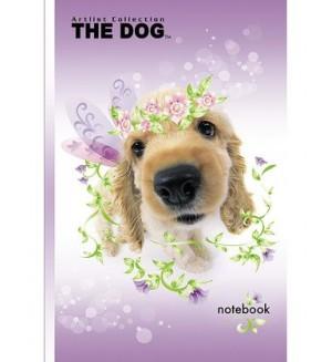 Бизнес-блокнот 120л А6, THE DOG- Нежный щенок, твердый переплет