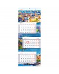 Календарь квартальный 3 бл. на склейке OfficeSpace Люкс каскад