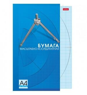 Бумага масштабно-координатная, 25 листов, А4, голубая сетка