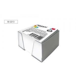 Блок для записи, 90x90x50 мм, белый (в пластиковом боксе)