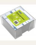 Блок для записи 9*9*5 см, пластиковый бокс, белый, 500 л.