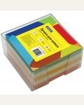 Блок для записи 9*9*5 см, пластиковый бокс, цветной, 500 л.