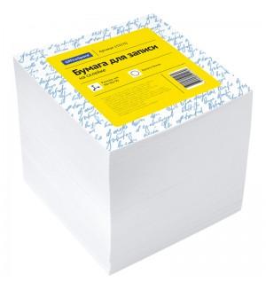 Блок для записи на склейке OfficeSpace, 9*9*9см, белый