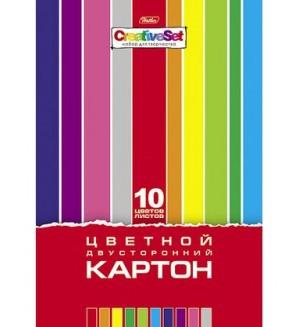 Цветной двусторонний картон
