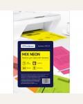 Бумага цветная OfficeSpace neon mix А4, 80г/м2, 100л. (5 цветов)