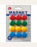 Набор магнитов для доски 12шт 20мм, ассорти