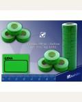 Ценник средний 36*26 мм, зеленый, 300 шт