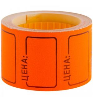 Ценник средний OfficeSpace, 35*25мм, оранжевый, 200шт./рулон
