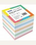 Блок для записи на склейке OfficeSpace, 8*8*8см, цветной