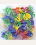 Зажимы для воздушных шаров, 100шт., Поиск, ассорти