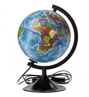 Глобус Земли политический с подсветкой Классик, 21мм