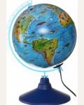 Глобус детский зоогеографический, с подсветкой, 21 см