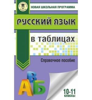 Савченкова Г. Русский язык в таблицах. 10-11 классы. Новая школьная программа
