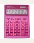 Калькулятор настольный Citizen SDC-444XRPKE, 12 разрядов, двойное питание, 155*204*33мм, розовый
