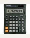 Калькулятор настольный Citizen  SDC-444S 12 разрядов, двойное питание, 153*199*31 мм, черный