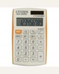Калькулятор карманный SLD-322RG 10 разрядов, двойное питание, 64*105*9 мм, оранжевый