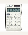 Калькулятор карманный SLD-322BK 8 разрядов, двойное питание, 64*105*9 мм, белый/черный