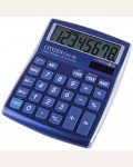 Калькулятор настольный Citizen CDC-80BL, 8 разр., двойное питание, 109*135*25мм, синий