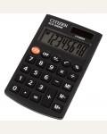 Калькулятор карманный Citizen SLD-200NR, 8 разр., двойное питание, 62*98*10мм, черный