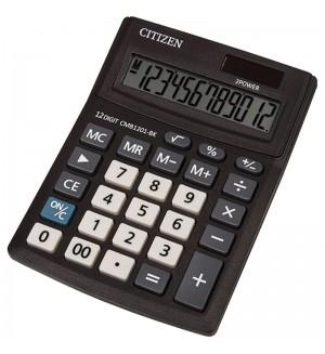 Калькулятор настольный Citizen Business Line CMB, 12 разр., двойное питание, 100*136*32мм, черный