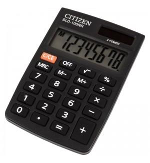 Калькулятор карманный Citizen SLD-100NR, 8 разр., двойное питание, 58*88*10мм, черный