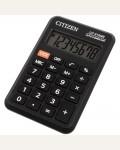 Калькулятор карманный Citizen LC-210NR, 8 разр., питание от батарейки, 64*98*12мм, черный