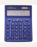 Калькулятор настольный Citizen SDC-444XRNVE, 12 разрядов, двойное питание, 155*204*33мм, темно-синий