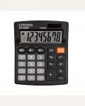 Калькулятор настольный Citizen SDC-805NR, 8 разр., двойное питание, 105*120*21мм, черный