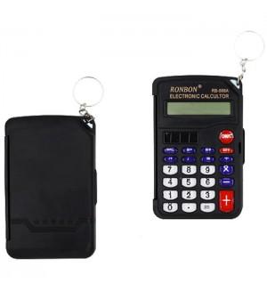 Калькулятор карманный 8 разрядов МС 97*53*10 черный, с крышкой