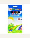 Карандаши цветные 12цв шестигранные, деревянные, картонная упаковка, европодвес