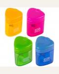 Точилка пластиковая ArtSpace, 1 отверстие, контейнер, с крышкой, ассорти