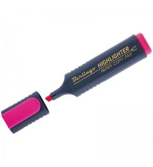 Текстовыделитель розовый, 1-5мм