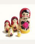 Матрешка традиционная 5 кукольная большая