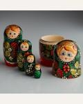 """Матрешка """"Хохлома малая """" 5 кукольная"""