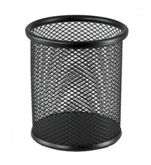 Стакан металлический сетчатый, круглый, черный