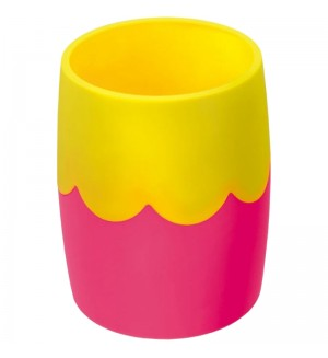 Подставка-стакан, двухцветный розово-желтый