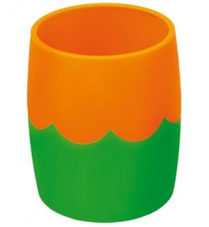 Стакан двухцветный, зелено-оранжевый
