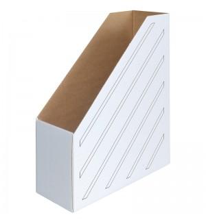 Накопитель-лоток архивный (микрогофрокартон), ширина 100мм, белый