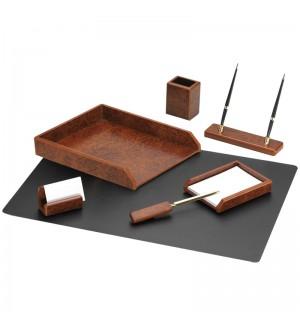 Набор настольный Delucci 7 предметов, коричневый орех