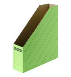 Накопитель-лоток архивный (микрогофрокартон), ширина 75мм, зеленый