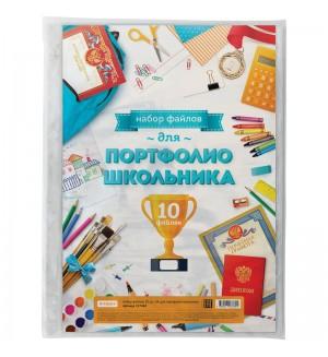 Набор файлов (10шт.) А4 для портфолио школьника