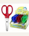 Ножницы детские 10,5см пластиковые ручки, ассорти
