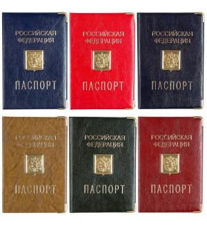 Обложка для паспорта OfficeSpace ПВХ, шильд, ассорти, тиснение золото