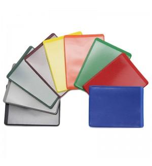 Обложка-карман для проездных документов ДПС, двусторонняя, 69*92мм, ПВХ, цветной, ассорти