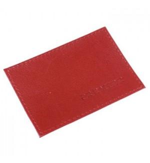 Визитница 1 отдел для карт, красная, натуральная кожа